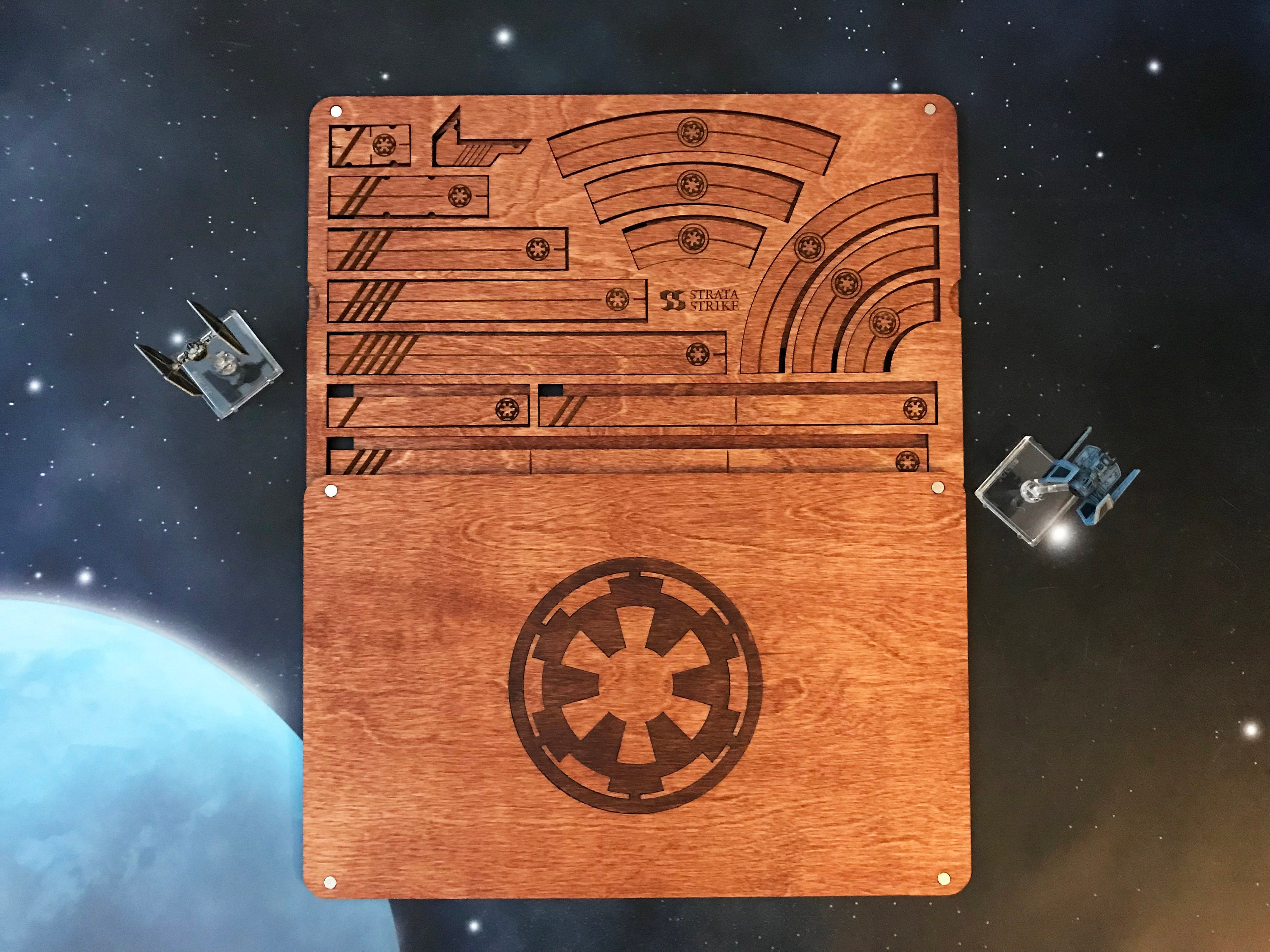 Imperial X-Wing Tray & Rulers