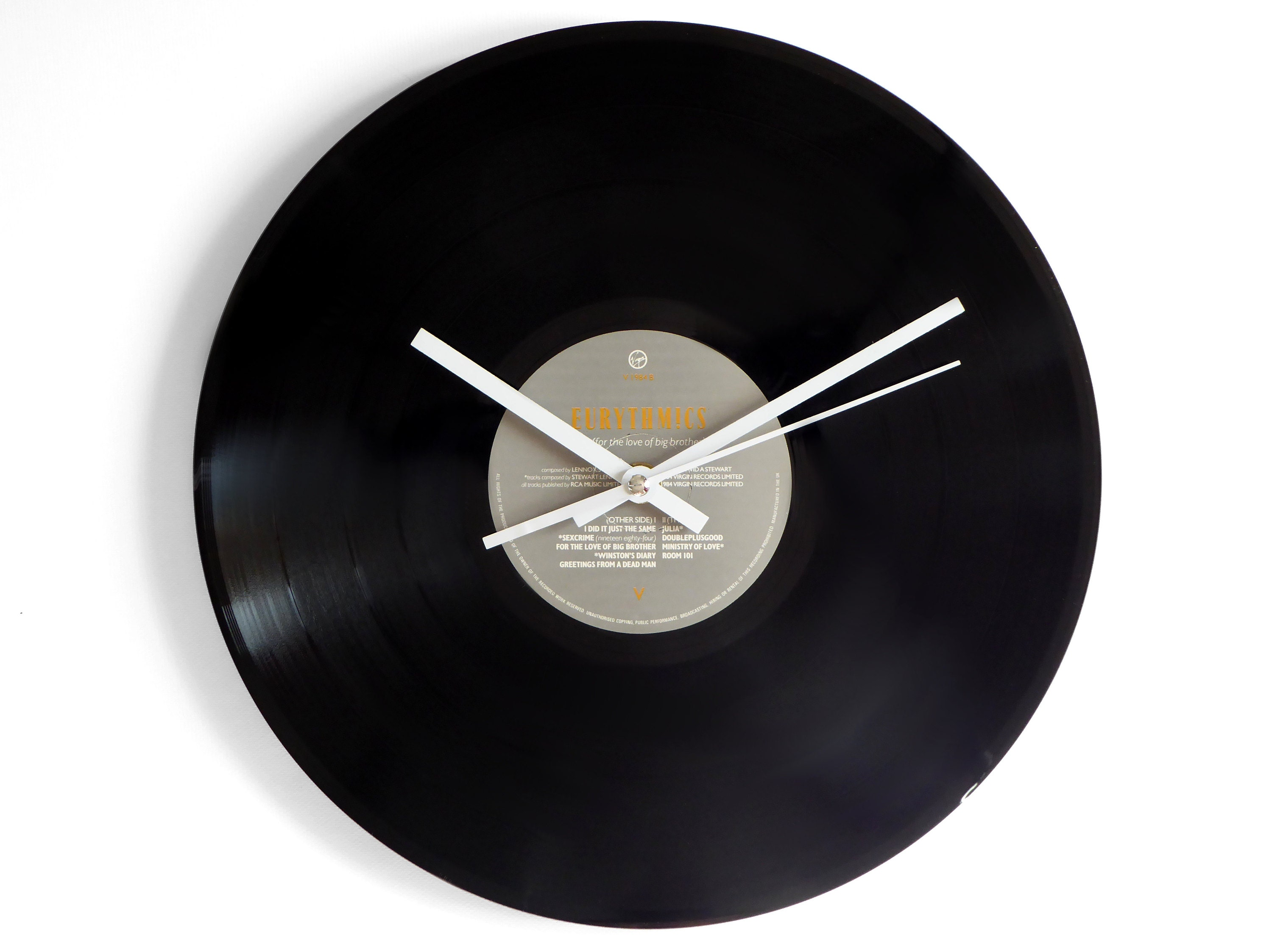 Eurythmics 1984 Vinyl Record Wall Clock