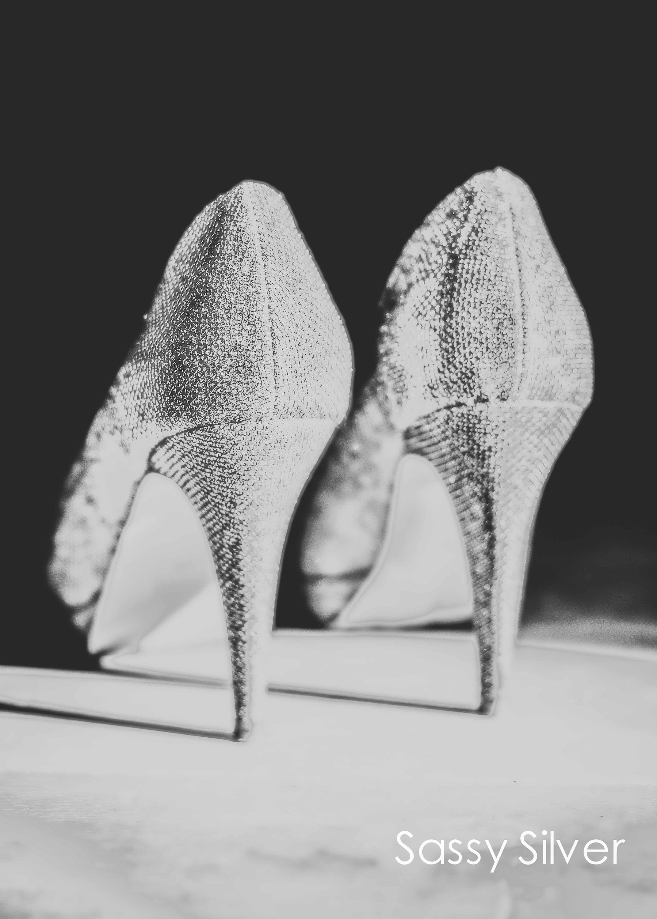 black and white stiletto shoe wall art and prints in custom sizes