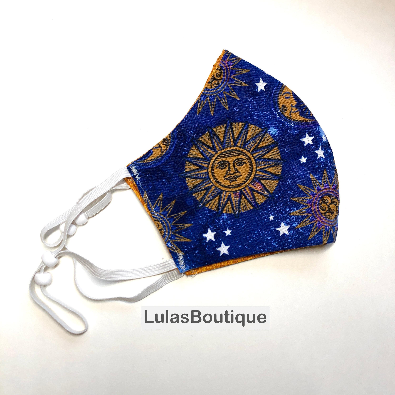 Boho Sun Moon Stars Mask
