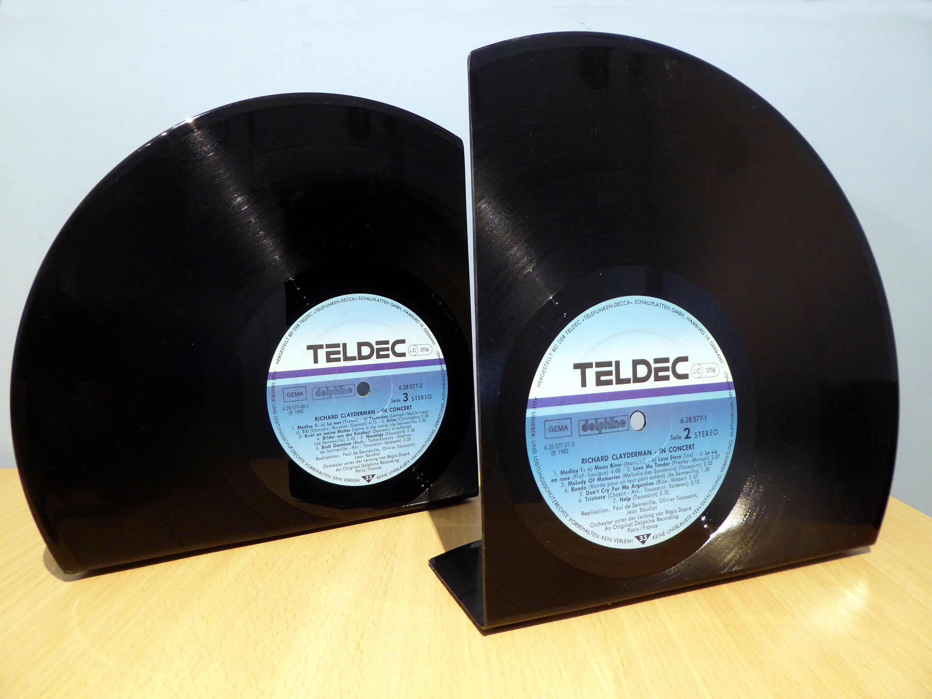 Trimmed Vinyl Record Bookends