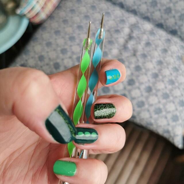 pretty nails by marbling tool dojore