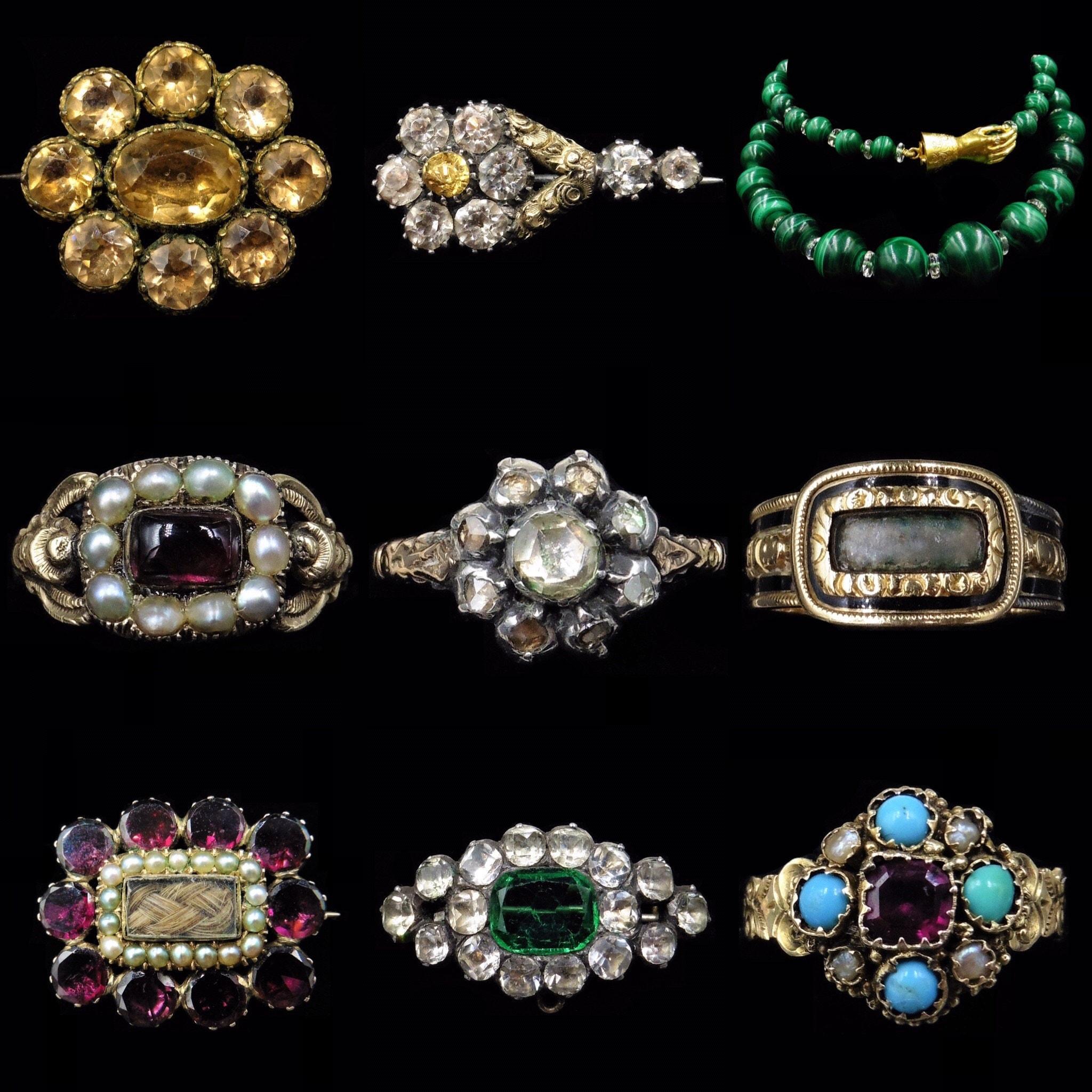 Collage of Georgian Jewellery