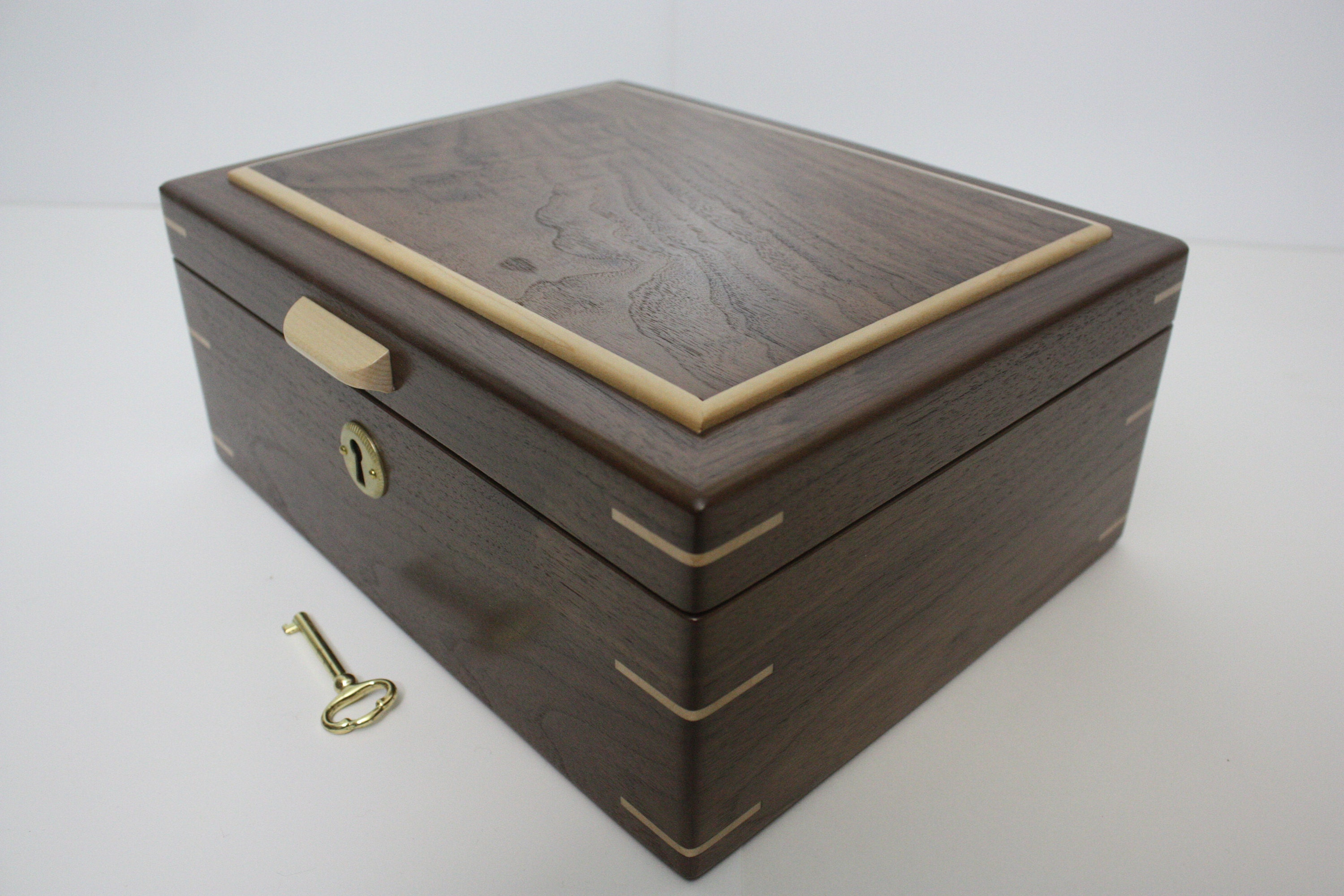 Large Locking Wood Box For Sale