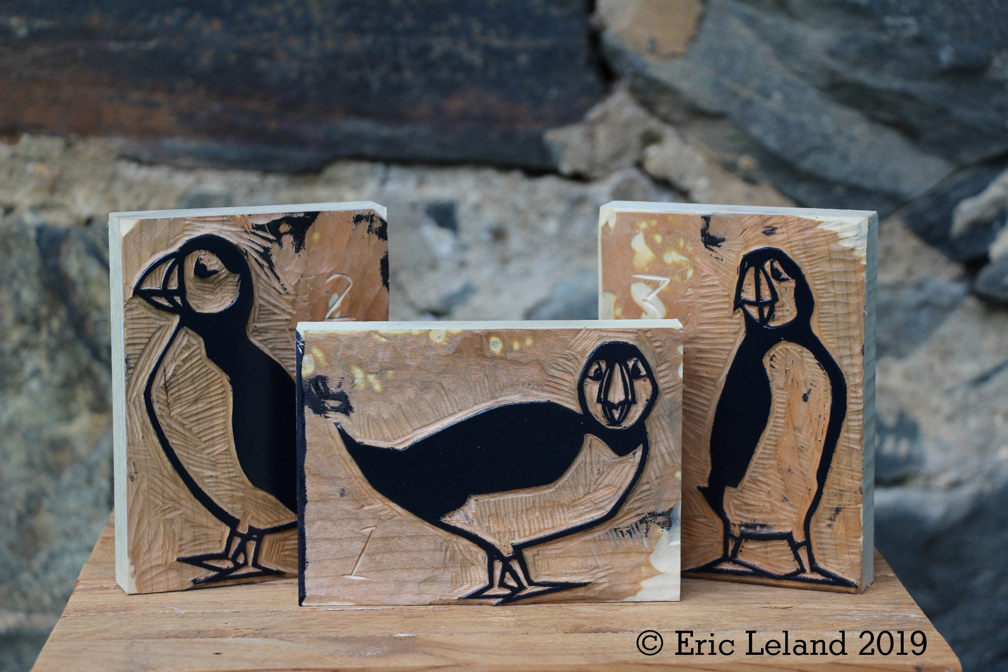 Puffin Wood Blocks