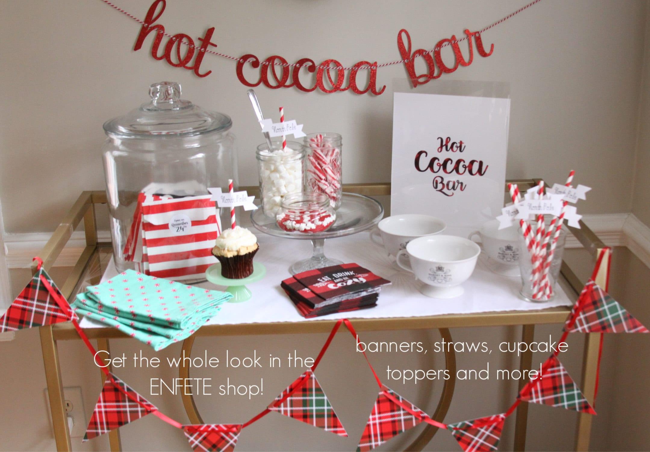 Hot Cocoa Bar Supplies from Enfete