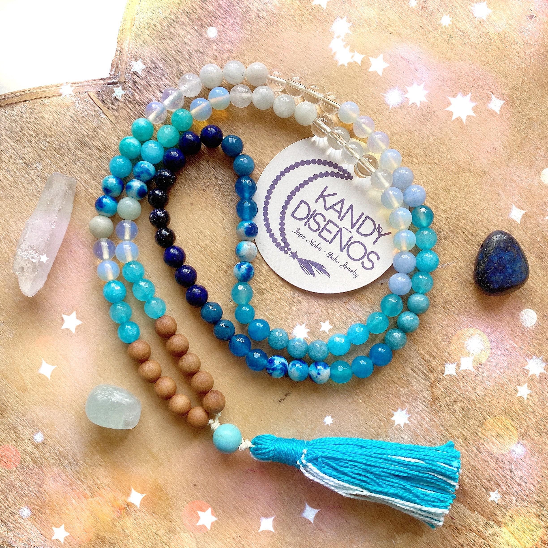 collar meditacion 108 cuentas kandy diseños