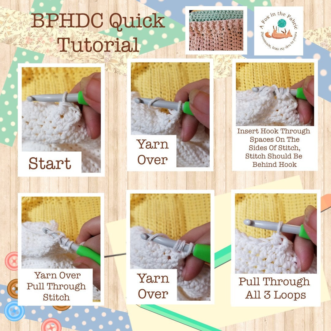 Back Post Half Double Crochet Tutorial