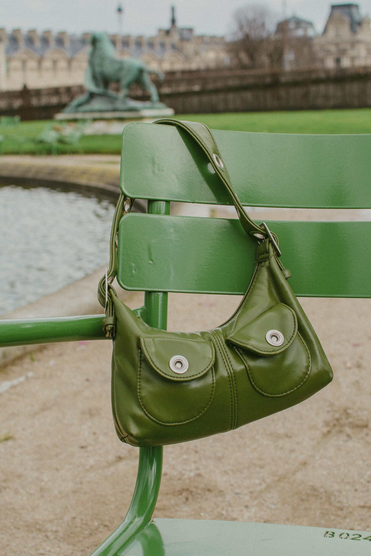 green vintage bag