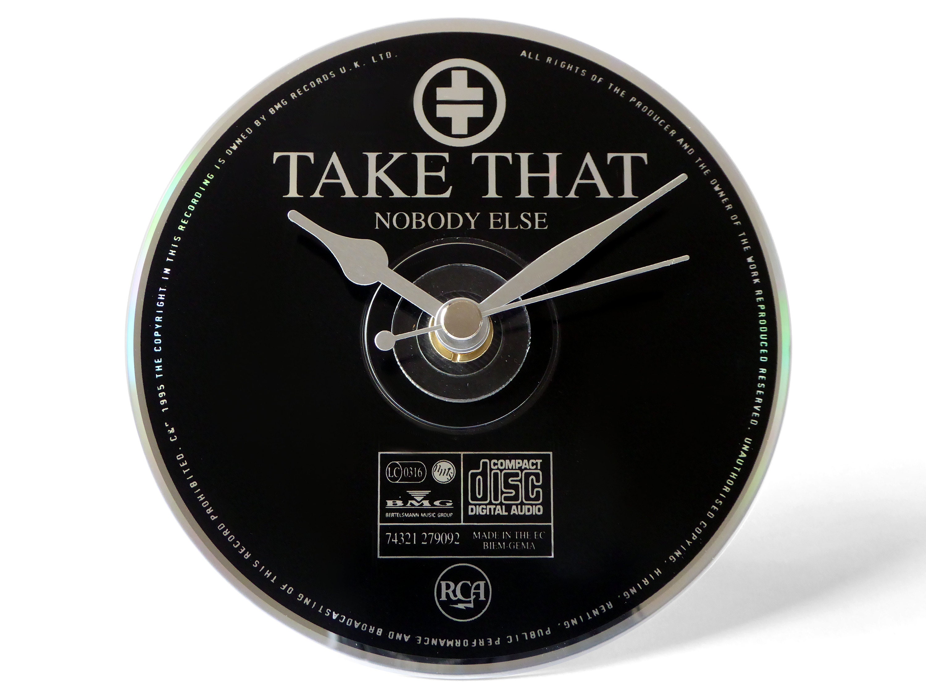 Take That Nobody Else CD Clock and Keyring Gift Set