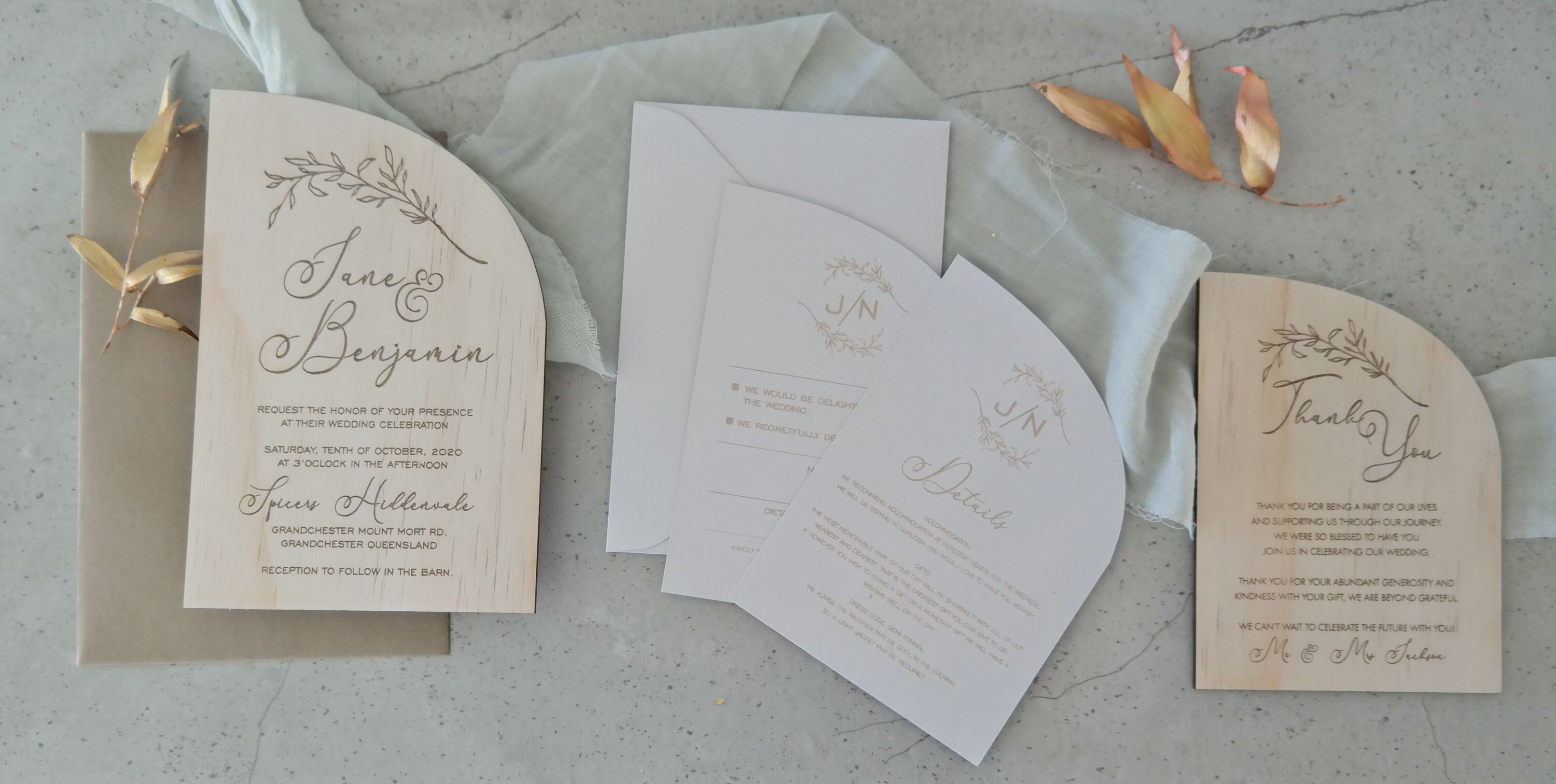 Formal Wedding Stationery Suite