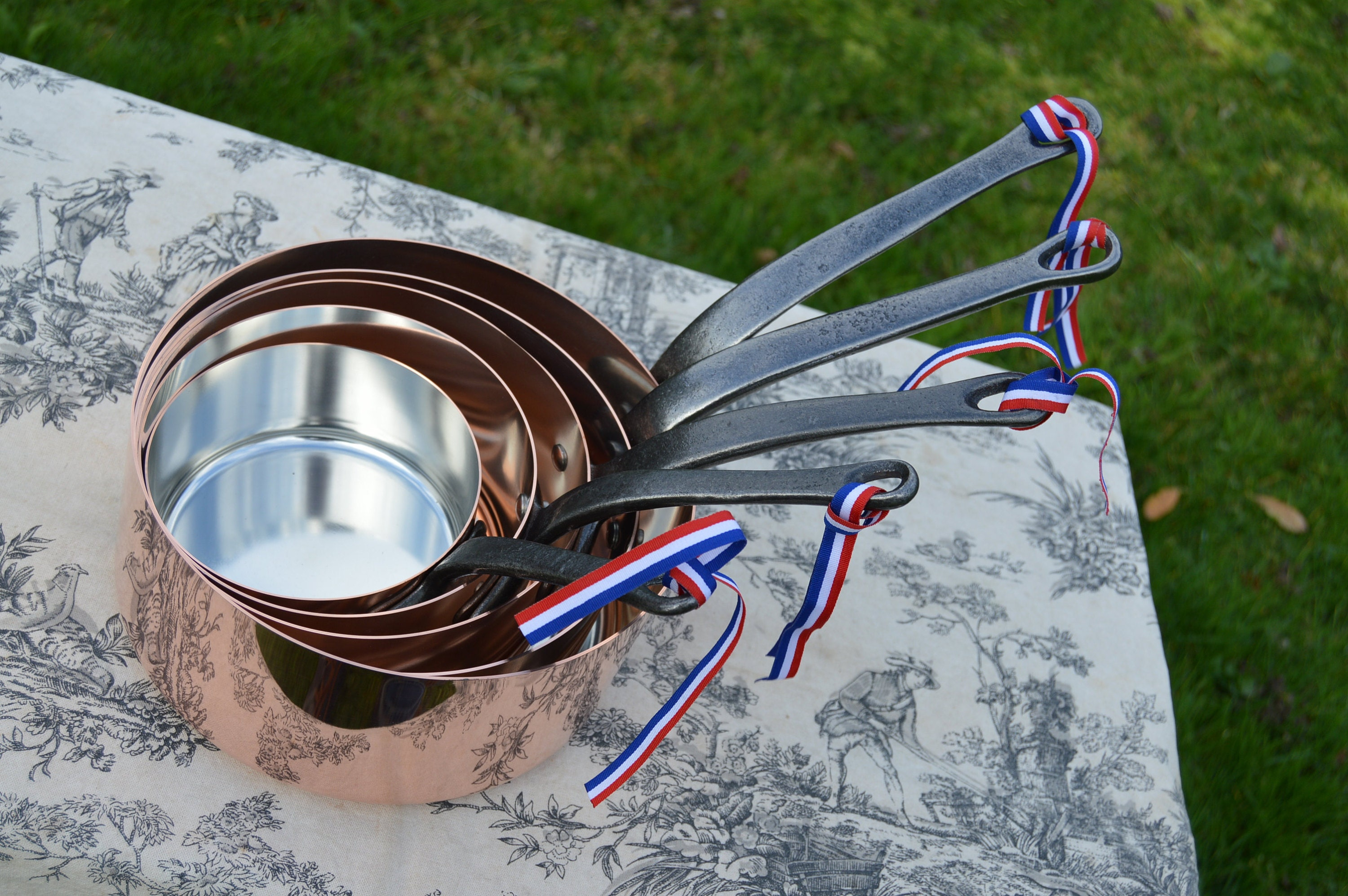 1mm Copper Pans by NKC fully tin lined.