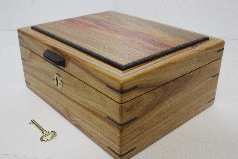 Handmade Canarywood Locking Box