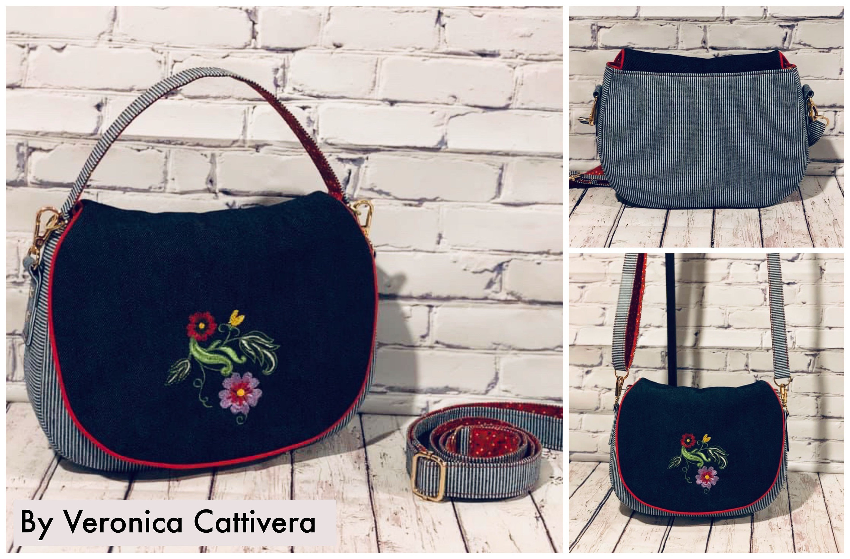 Serena saddle bag small messenger bag pattern
