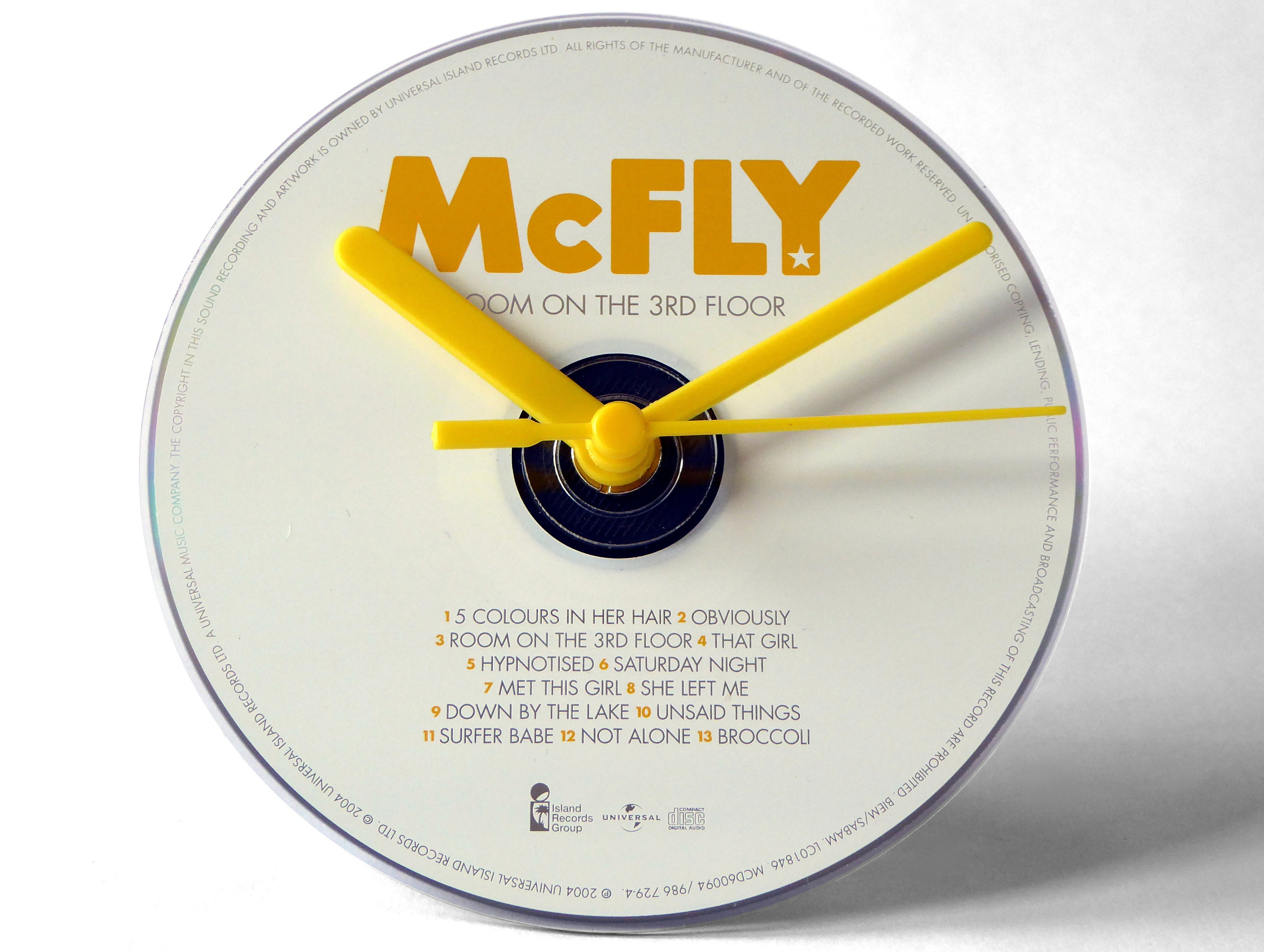 McFly Room On The 3rd Floor CD Clock and Keyring Gift Set