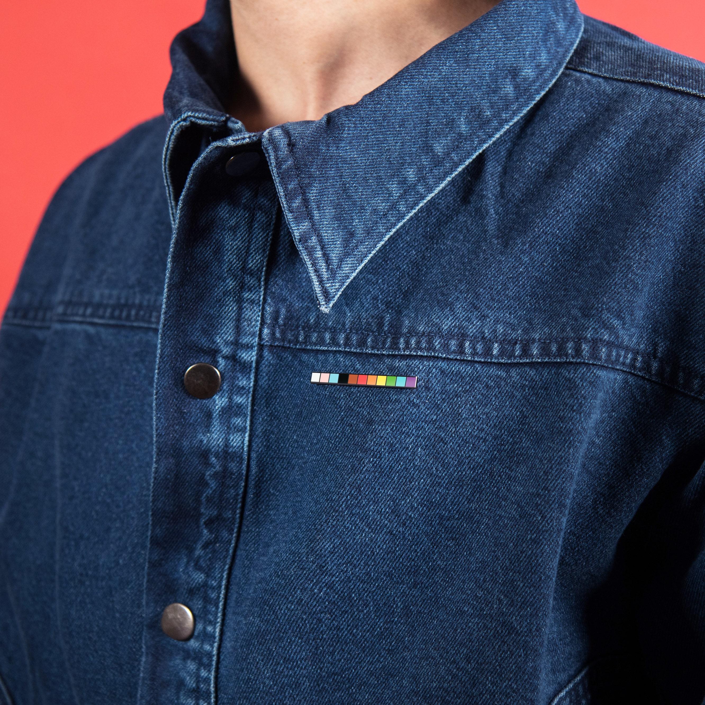 Transgender Progress Rainbow Pride Flag Enamel Pin
