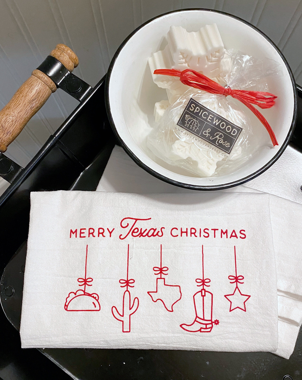 Texas Christmas Towel & Soap Set