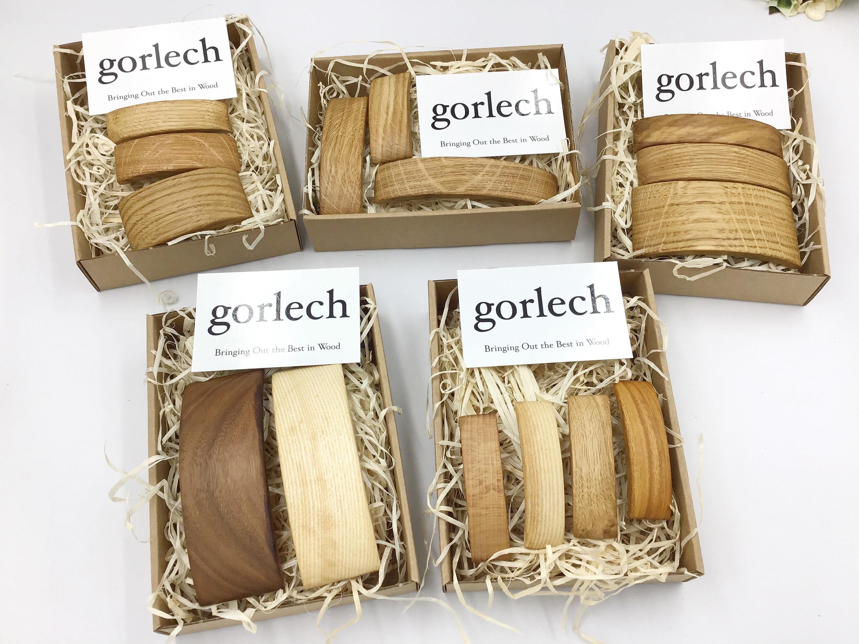 Gorlech hair barrettes- natural wood hair accessories