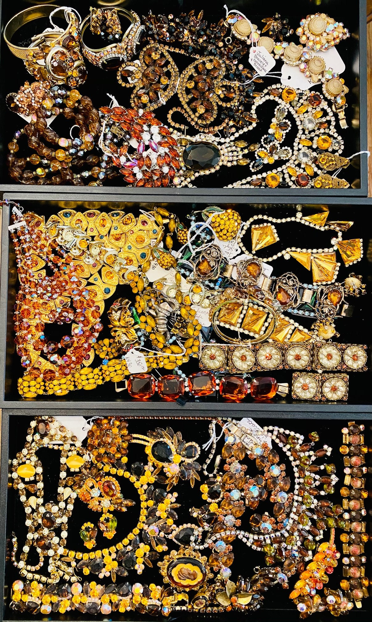 Vintage Costume Jewelry, Fall Colors