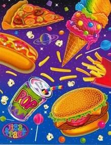 Lisa Frank junk food