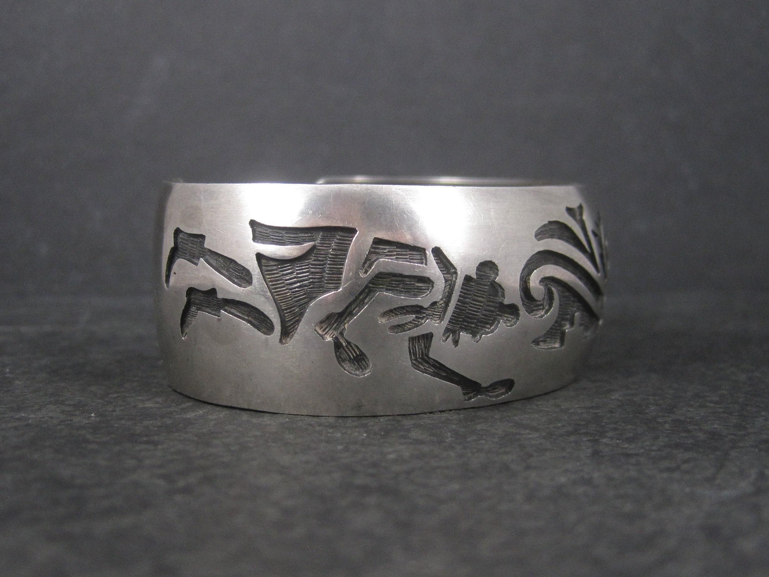 Vintage Hopi Kachina Cuff Bracelet from Bejeweled Emporium