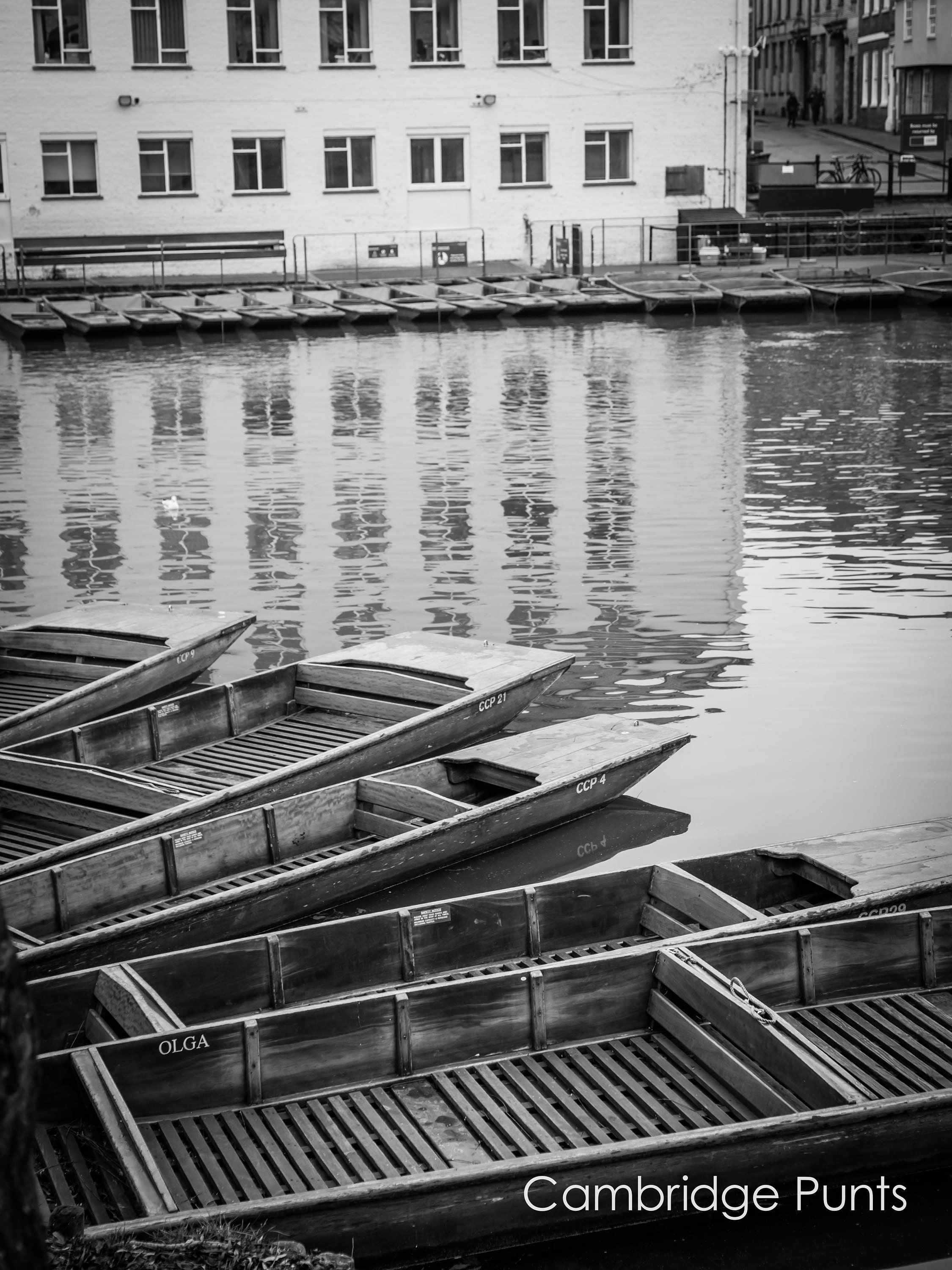 black and white wall art of punts on the river cam in cambridge in custom sizes and ready to hang wall art like canvas and art panels