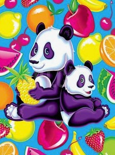Lisa Frank pandas and fruit