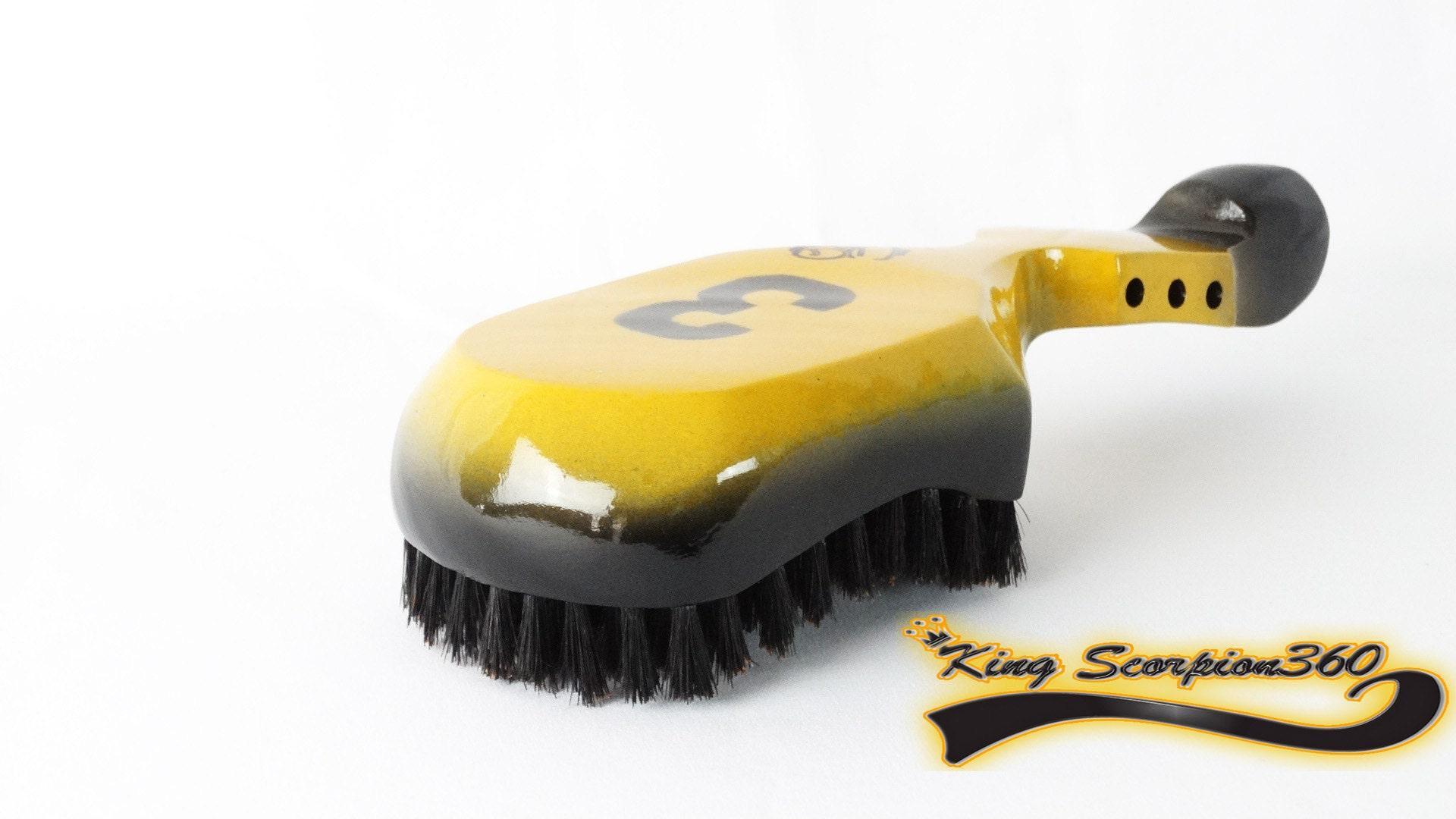 KING SCORPION - 360 Crushed Velvet Fat Lace Custom Du-Rag/Hair Wrap/Turban/Do-Rag - 10 Row King Scorpion Custom 360 Wave Brush Gift Bundle
