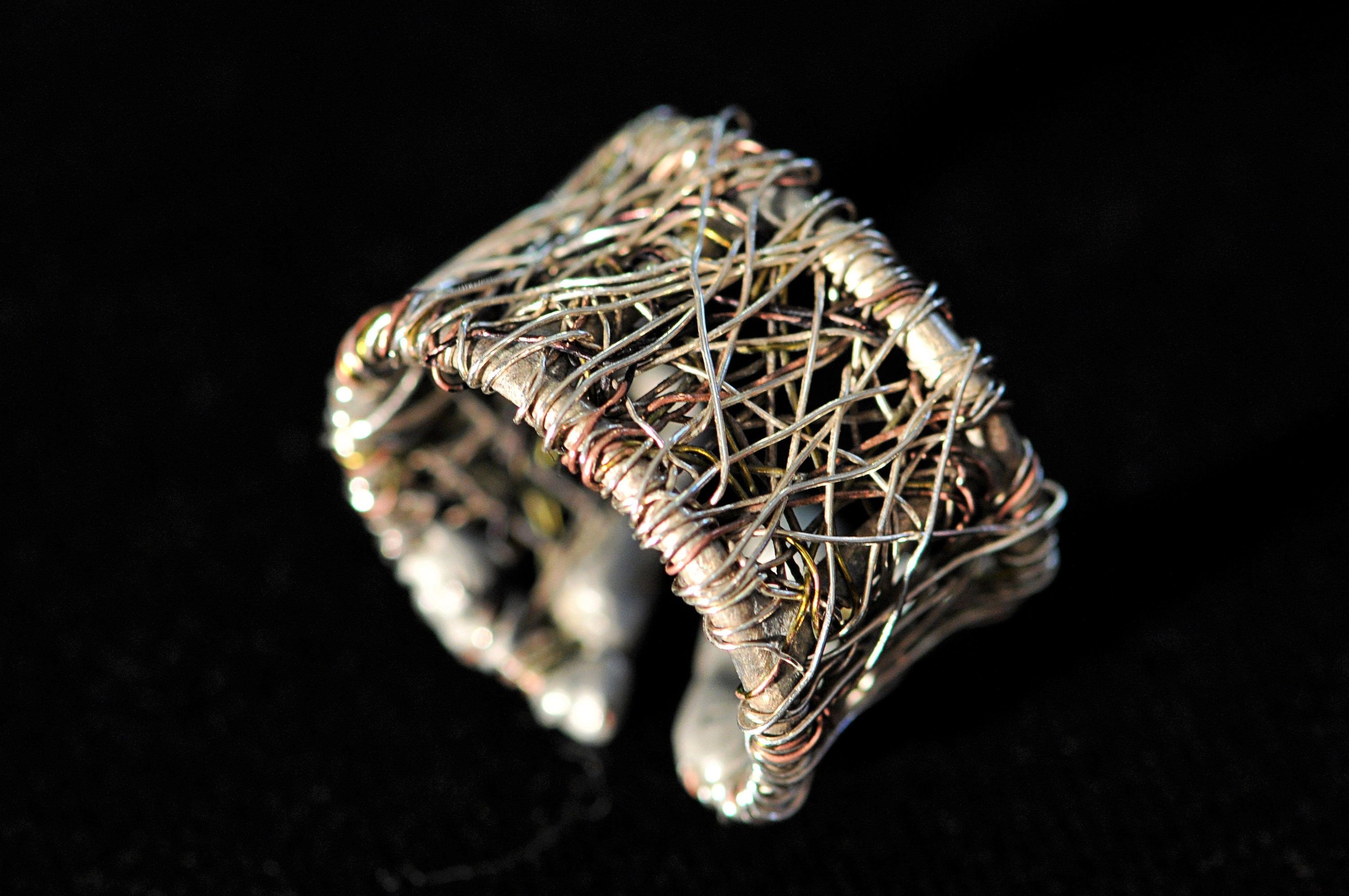 Solid silver ring, contemporary ring