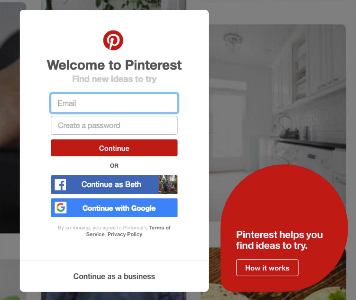 Create a Pinterest for Business page
