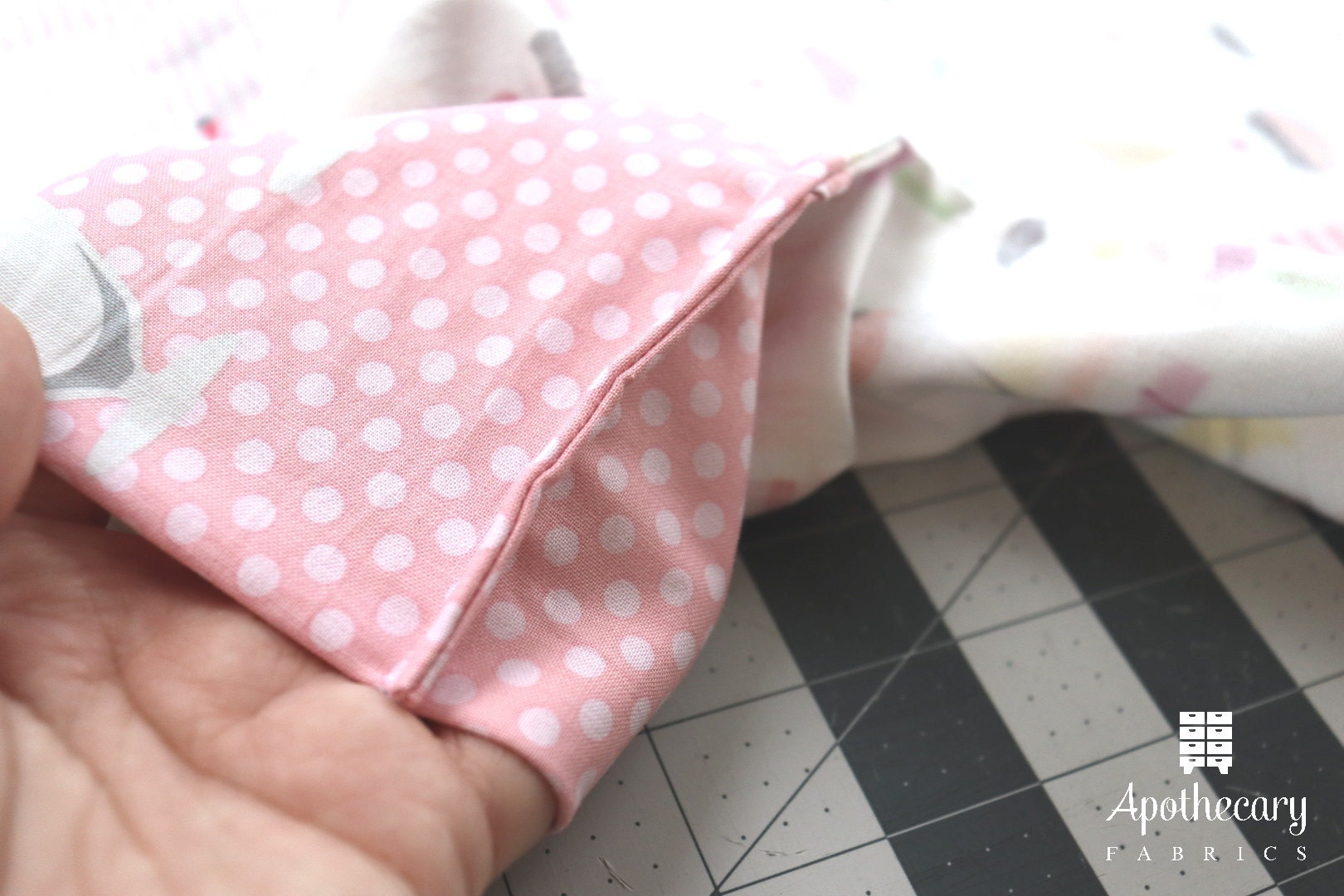 The view of the French Seam from the interior of the Perfect Pillowcase.