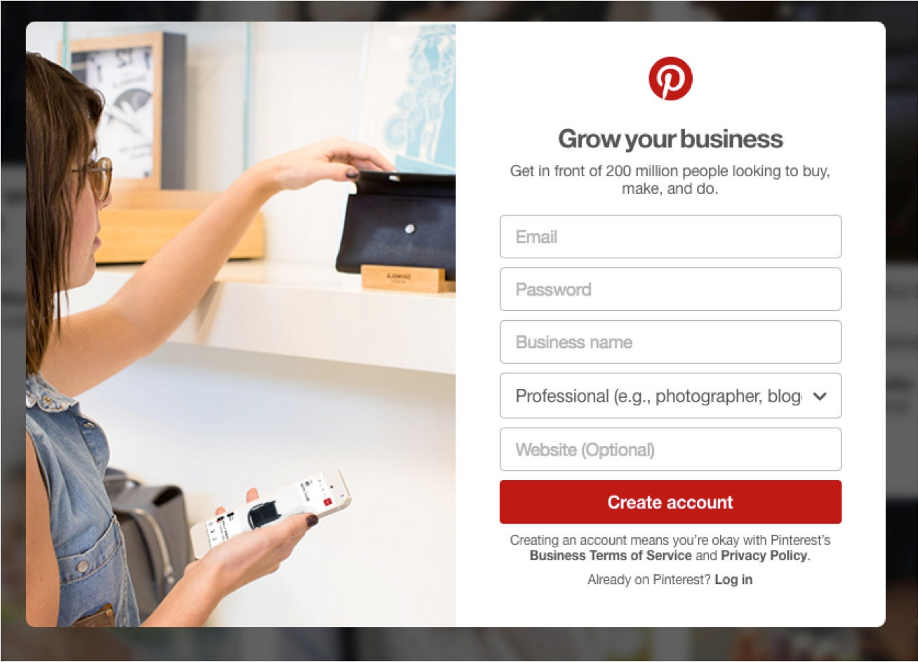 Create a Pinterest for Business Account