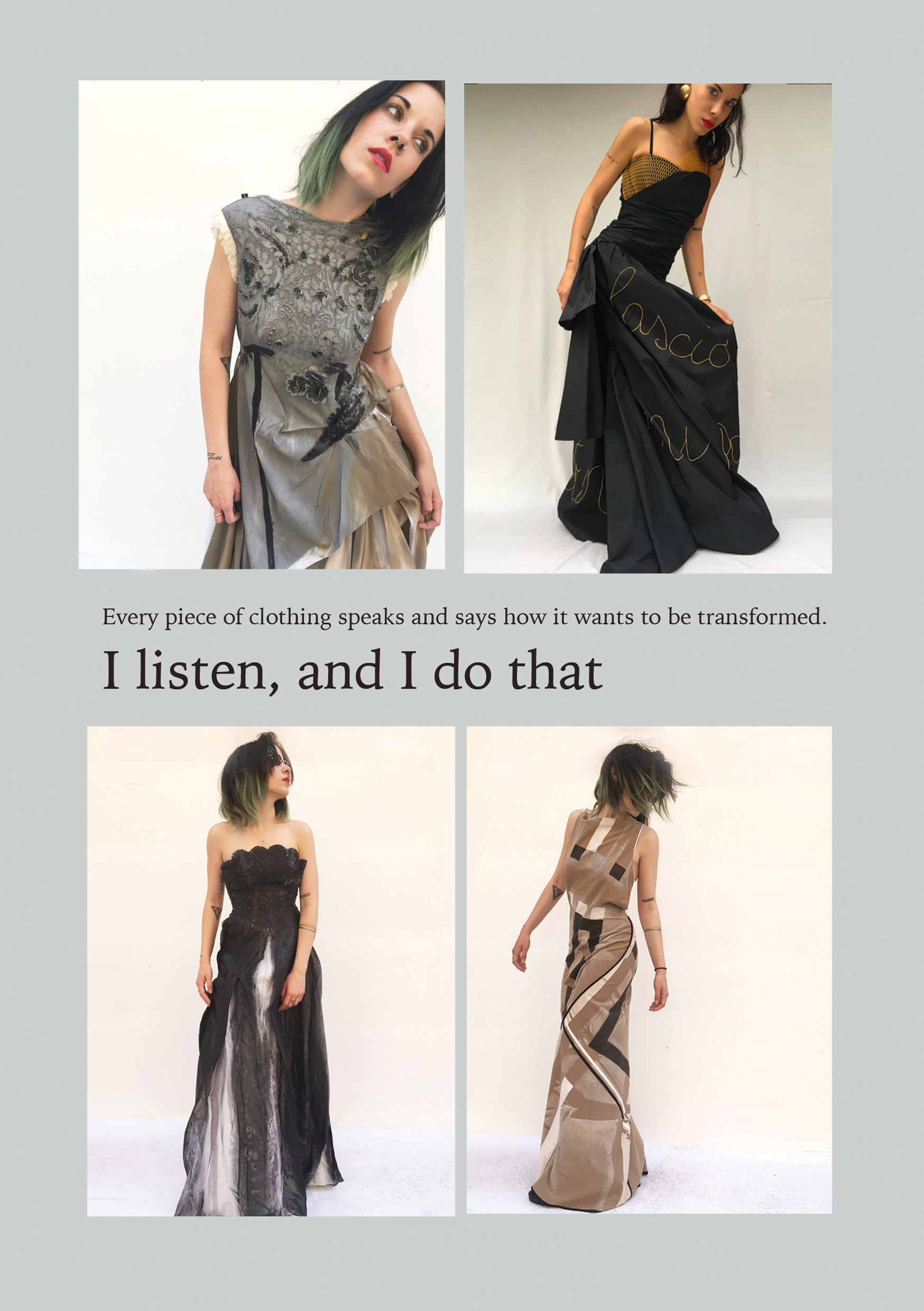 Lola Darling Every piece of clothing says how it wants to be transformed. The brand book