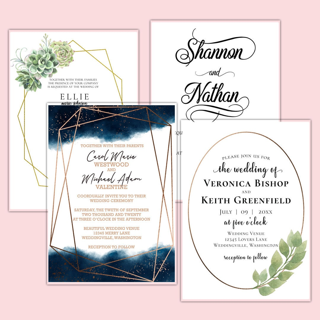 Keepsake Wedding Invitations by Anton Digital Designs