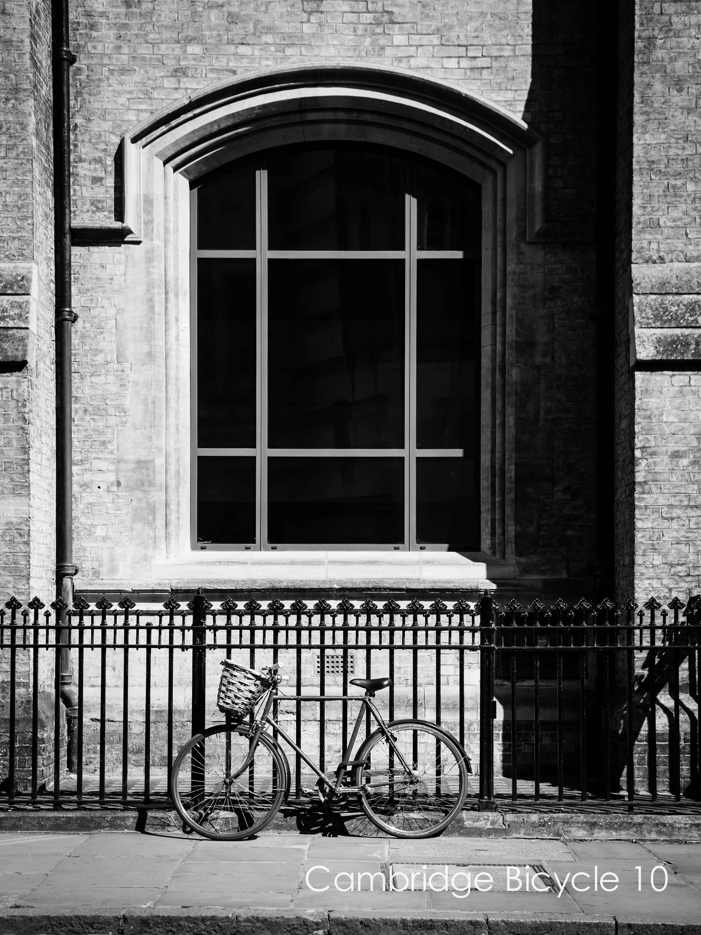 cambridge bike black and white print- limited edition or ready to hang wall art- various sizes