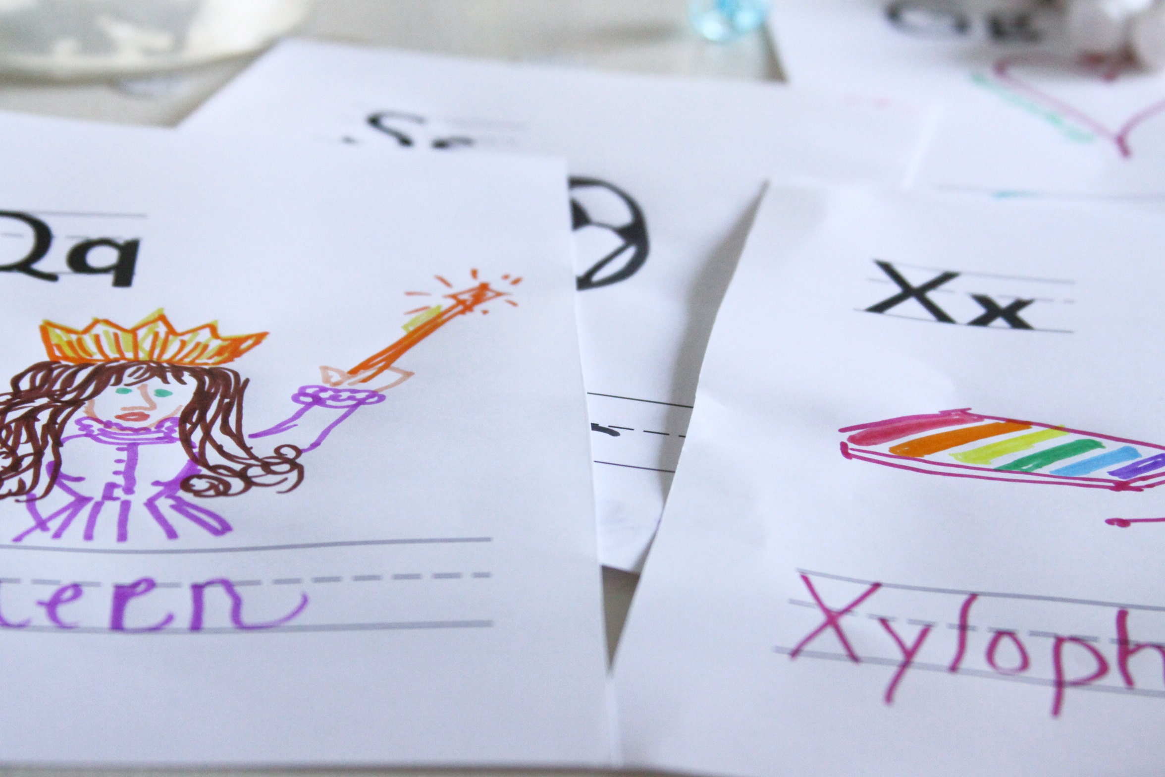 Alphabet Cards for handmade book