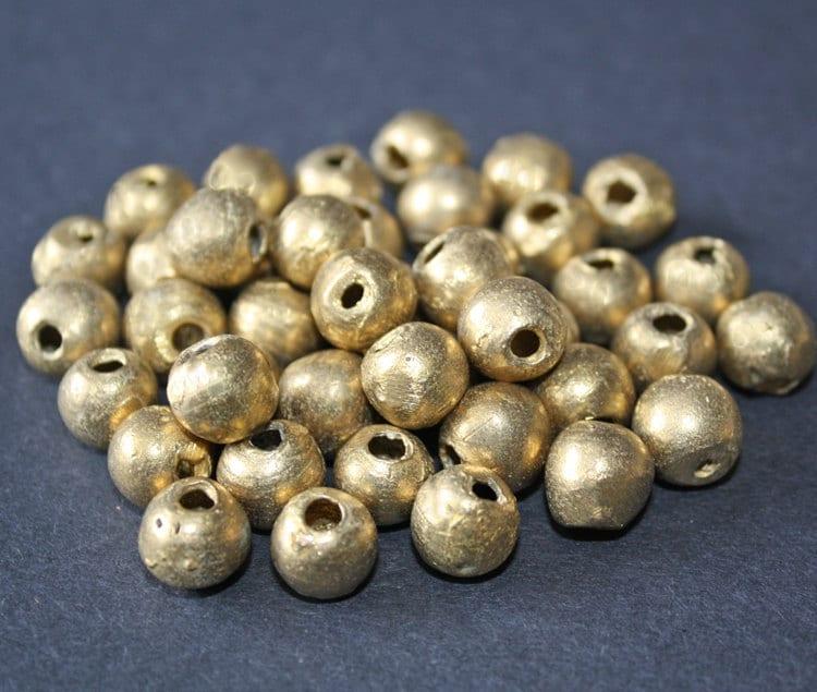 plain round beads