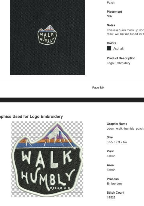 new WANDERER Walk Humbly patch by Catholic Goodie Box