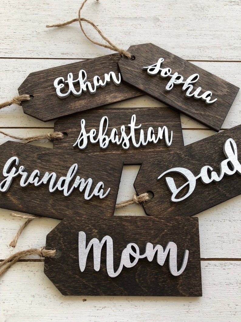 Personalized Wooden Stocking Tags