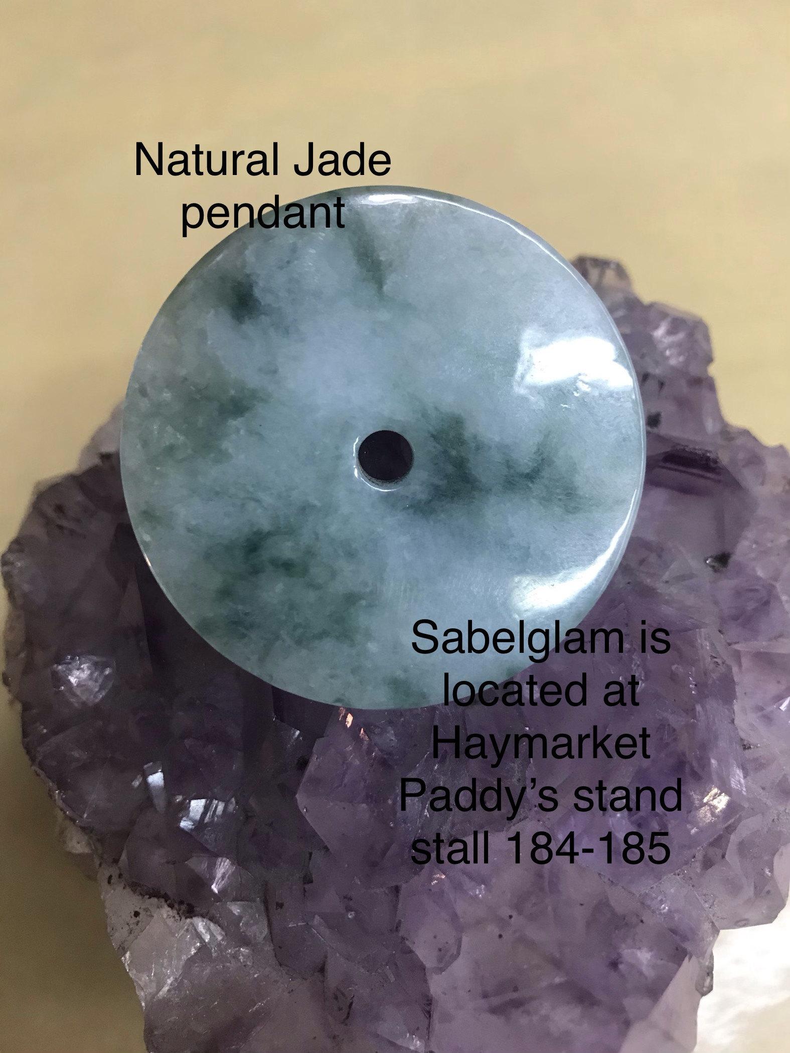 Natural Jade Donut 100% Vintage