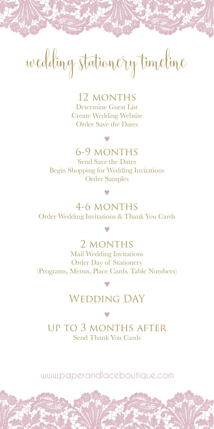 A Timeline for Wedding Stationery