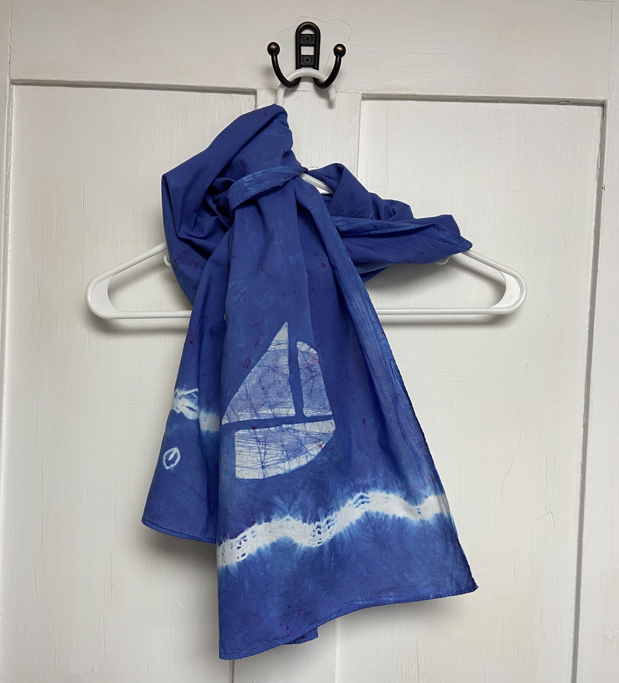 Batik sailboat cotton scarf