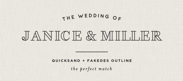Free Wedding Font Pairings The Perfect Match 7