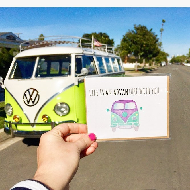 adventure, van life, vw bus, bus life, wanderlust, travel blog, san diego blogger, women owned, funny greeting cards, funny travel blog