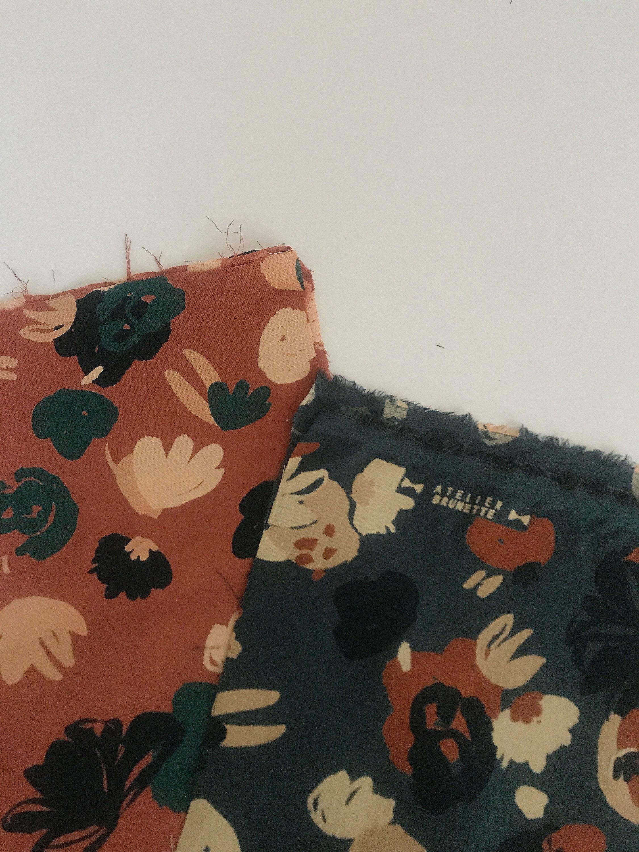 Atelier Brunette Posie Dobby Viscose in Chestnut and Smokey