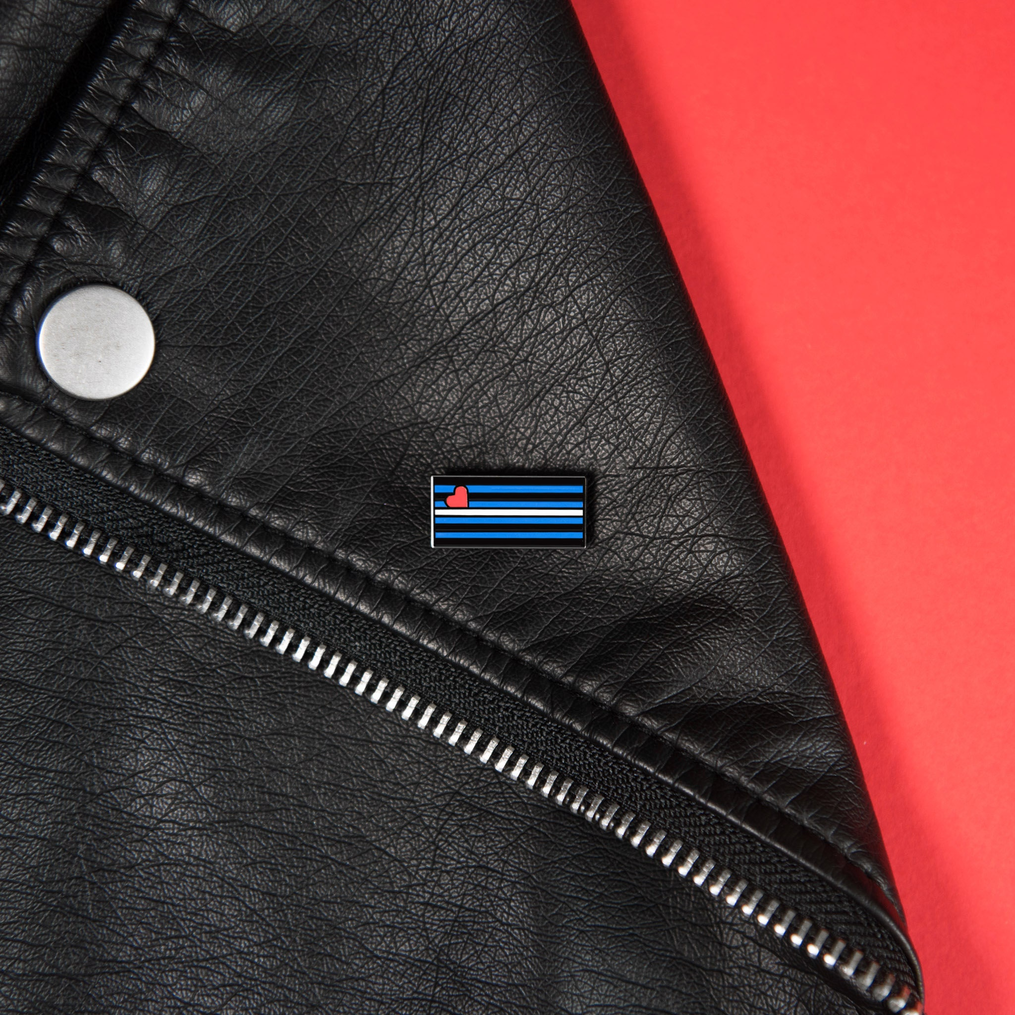 LGBT Leather Pride Flag Sex Kink Pup Accessory Badge Pin
