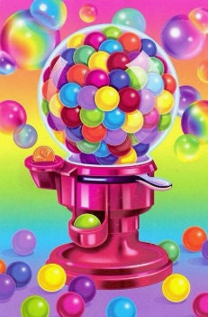 Lisa Frank bubblegum machine