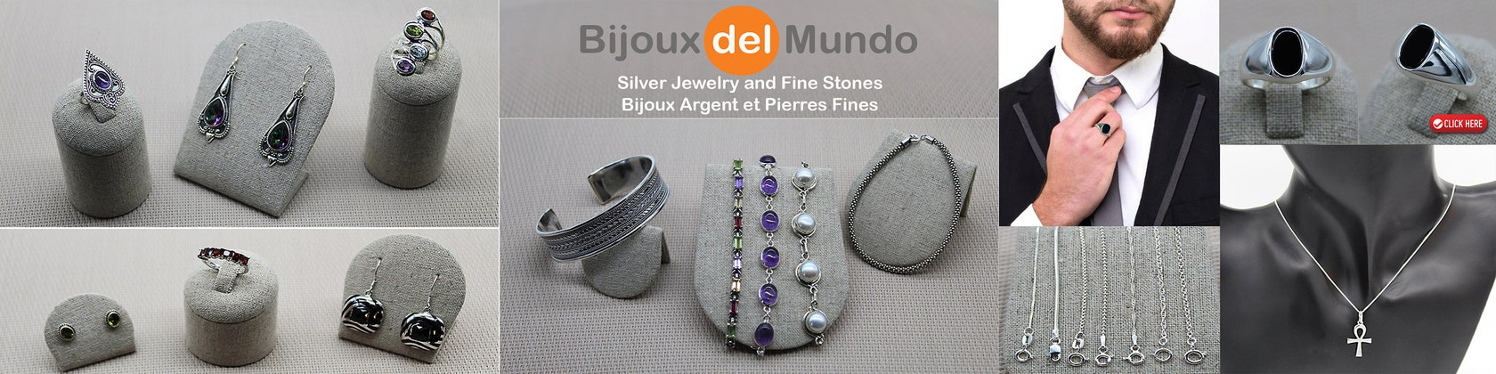 encadrement bijoux argent