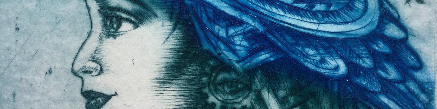 Ballade original artwork dry point engraving limited edition intaglio print
