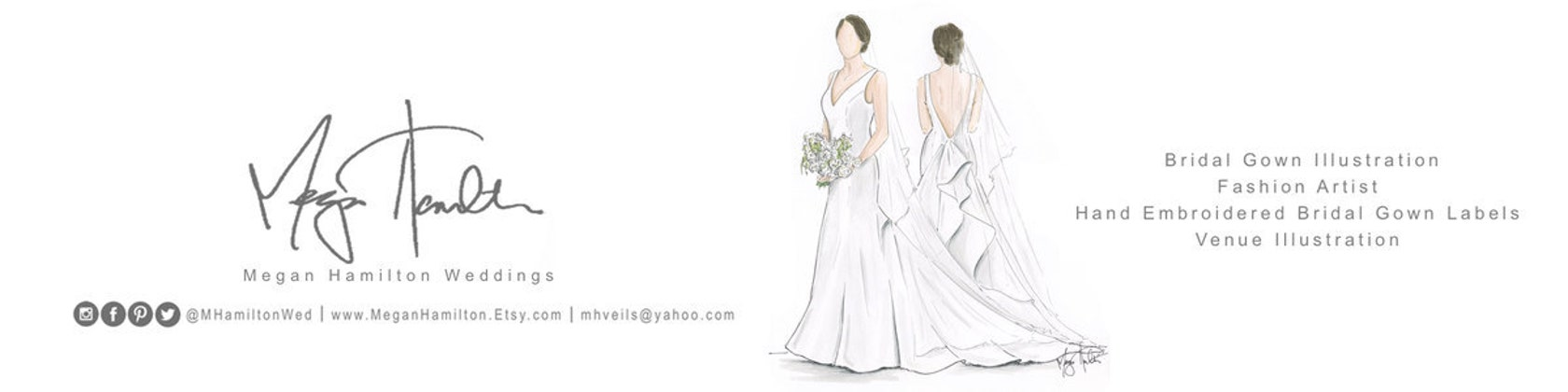 Vestiti Da Sposa Yahoo.Megan Hamilton Weddings Di Meganhamilton Su Etsy